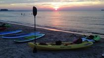 Sonnenuntergang Dolphin Kayak Tours, Virginia Beach