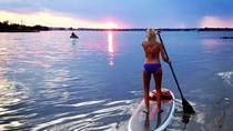 Sunset Stand Up Paddleboard Tour de Linkhorn Bay, Virginia Beach, Remo sobre tabla de pie