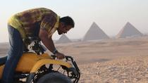 Cairo Desert Safari By Quad Bike around Giza Pyramids safari during the sunset, Cairo