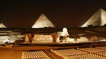 Giza Pyramids sound and light show at Night, Cairo