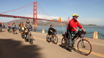 Fietstocht over de Golden Gate Bridge in San Fransisco naar Sausolito, San Francisco, Fiets- en ...