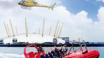 London Helicopter Tour Including High-Speed Boat Cruise on the River Thames, Londra