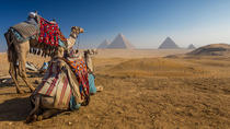 Camel Ride at Giza Pyarmids During Sunset, Cairo, Nature & Wildlife