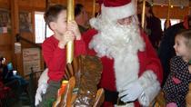 Santa on the Carrousel at Herschell Carrousel Factory Museum, Niagara Falls, Christmas
