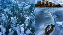 Abraham Lake Ice Bubbles Winter Photography Tour, Banff