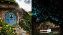 Hobbiton Movie Set and Waitomo Glowworm Caves Day Trip from Auckland, Auckland, Day Trips