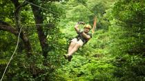 Private Belize City Adventure: Zipline Tour at Jaguar Paw and Crystal Cave Tubing, Belize City
