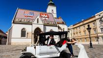 Zagreb Upper Town 20-Minute Private Sightseeing Tour in Electric Classic Car Replica, Zagreb, ...
