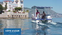 Custom boat tour: Discover the coastline from 1 Hr on a solar powered boat, Nice, Private ...