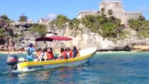 Sunset Beach Break and Tulum Ruins by Boat, Playa del Carmen, Sailing Trips