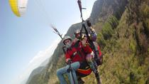 Paragliding tandem flight near Odorheiu Secuiesc, Transylvania, Parasailing