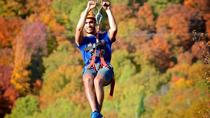 Mega Ziplines over Laurentian Mountains at Mont-Catherine, Mont Tremblant, White Water Rafting