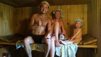 Russian Banya in the Countryside Massage and Birch Branches Home Meal, St Petersburg