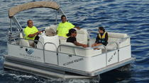 PRIVATE LUXURIY PONTOON BOAT WITH CAPTAIN, DISCOVER THE MAGNIFICENT MOOREA LAGON, Moorea, Day...
