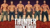 Thunder from Down Under in het Excalibur Hotel en Casino, Las Vegas, 18+ shows