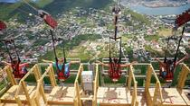 Soualiga Sky Exp Flying Dutchman Schooner Ride Zip Line w Transfers From Pier, Philipsburg, ...