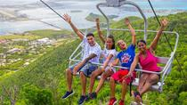 Soualiga Sky Explorer and Schooner Ride With Transfers From Pier, St Maarten, Ports of Call Tours