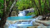 Private tour to Erawan Waterfalls followed by Elephant Feeding, Bangkok