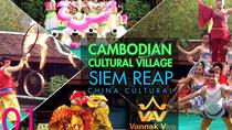Cambodia Culture Village - afternoon & Pub Street or Night Market with Tuk Tuk, Siem Reap, Market ...