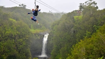 Big Island Zipline-Tour und Nationalpark der Vulkane von Hawaii ab Hilo oder Kona, Big Island of ...