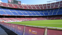 Excursion au stade de football de Camp Nou de Barcelone au départ de la Costa Brava, avec ...