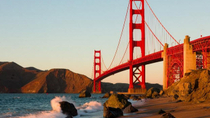 Recorrido a pie por la costa San Francisco desde el puente Golden Gate hasta Cliff House, San ...