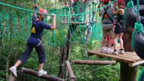 High Ropes and Hanging Bridges Tour at Adventure Park Costa Rica, Jaco, Climbing