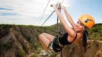 Zipline and Sunset Party Cruise Combo Tour, Los Cabos, Ziplines
