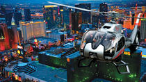 Flytur på kvelden over Las Vegas Strip med helikopter, inkludert transport, Las Vegas