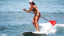 Stand-Up Paddleboard Einführung auf Hawaii, Big Island of Hawaii, Surfing Lessons