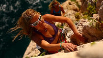Rock climbing with stunning views, Cinque Terre, Climbing