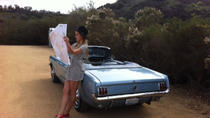 One-Way Road Trip by Classic 1965 Mustang Convertible or Fastback, Los Angeles, Shopping Tours
