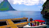28' Speedboat Pitons Tour with Mud Bath, Snorkeling, Waterfall, St Lucia, Attraction Tickets