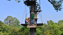 Angkor Canopy Zipline Tour and Ceramics Workshop from Siem Reap, Siem Reap, Ziplines