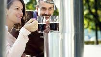Cheers with beers at beer fountain in Zalec, Ljubljana, Cultural Tours