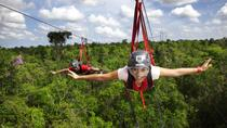 Playa del Carmen Adventure Tour at Selvatica: Zipline, Aerial Bridge, Buggy, Bungee Swing and ...