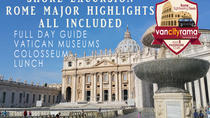 Shore Excursion All Included: Rome Guided Major Highlights with Vatican, Colosseum and Lunch, Rome, ...