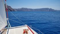 Sailing Catamaran Cruise in Santorini with BBQ and Drinks