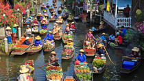 Floating Market with Wat Bang Kung Temple and the Railway Market, Bangkok, Day Trips