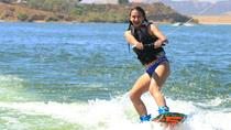 Wakeboarding, wakesurfing, waterskiing and tubing behind the boat, Los Angeles, Tubing