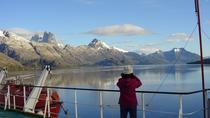 The Ferry at the end of the world,salilig through Unexplored fiords in Patagonia, Puerto Natales, ...
