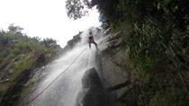 Waterfall Rappelling at Antelope Falls in Dangriga, Dangriga, Climbing