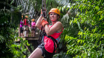 Private Cave Tubing and Zipline Adventure from Belize City, Belize City, Ziplines