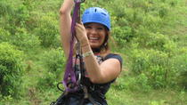 Tarzan Swing Zipline and Blue River Adventure at Rincon de la Vieja from Playa Hermosa, Playa ...
