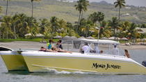 Private Power Catamaran Snorkel and Beach Experience with Lunch, St Kitts, Jet Boats & Speed Boats