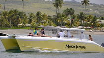 Private Powered Catamaran Snorkel and Beach Experience with Lunch, St Kitts, Catamaran Cruises