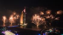 New Year Celebration In Arabian Gulf in Marina with fantastic Fireworks, Dubai, New Years