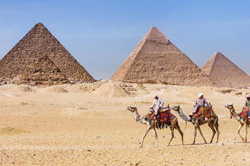 Cairo Giza Pyramids Desert Camel or Horseback Small-Group Ride