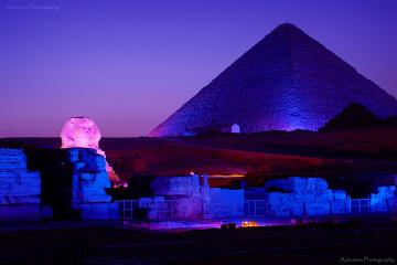 Sound and Light Show at The Pyramids...