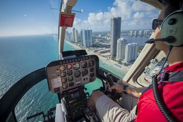 Survol en hélicoptère des plages...